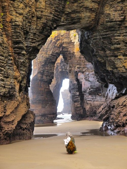 The arches of the Cathedral Beach. Picture from Pinterest Cathedral Beach