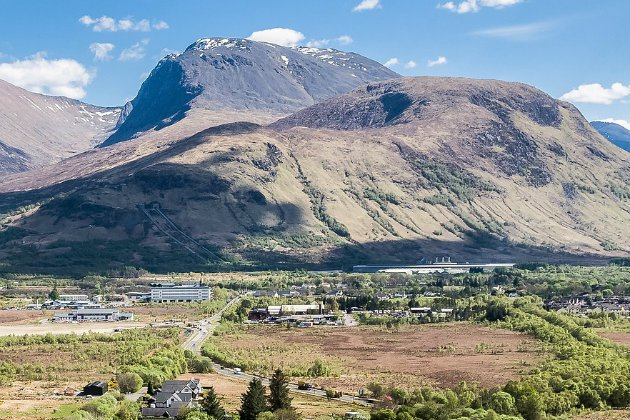 Check the slope of the mountain which is in the shadows: this is where climbers have fun. Picture from timeoutdoors, where they propose Ben Nevis challenges