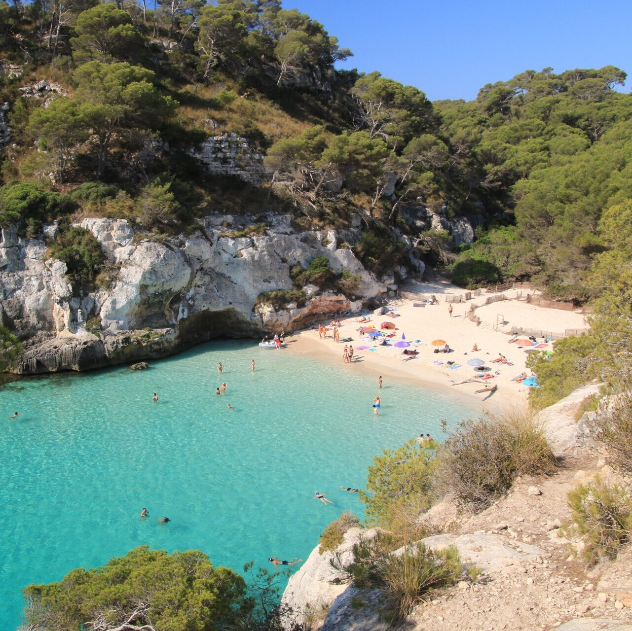 Is Cala Macarelleta easy to access?