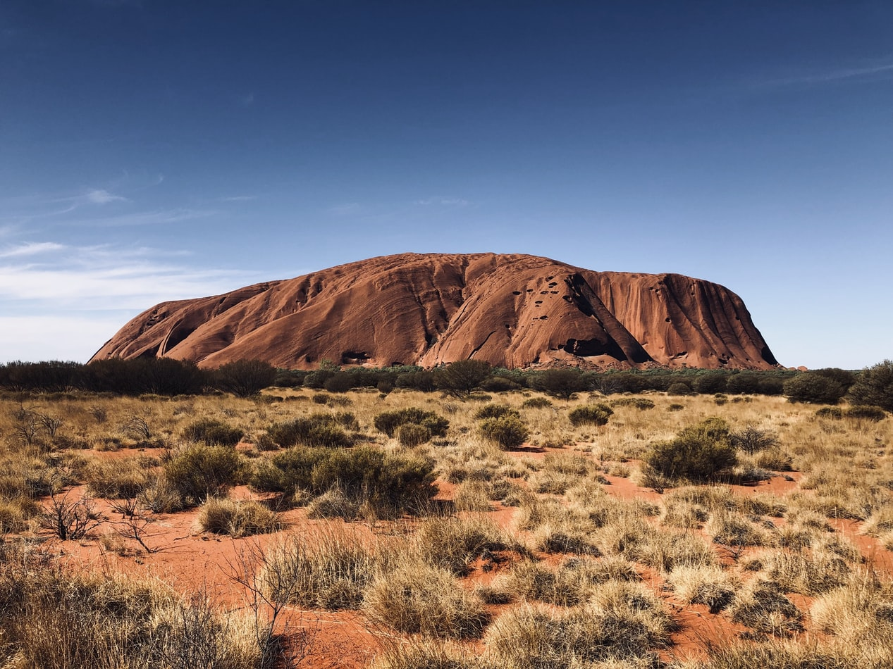 brown mountain in a desertic landscape in australia