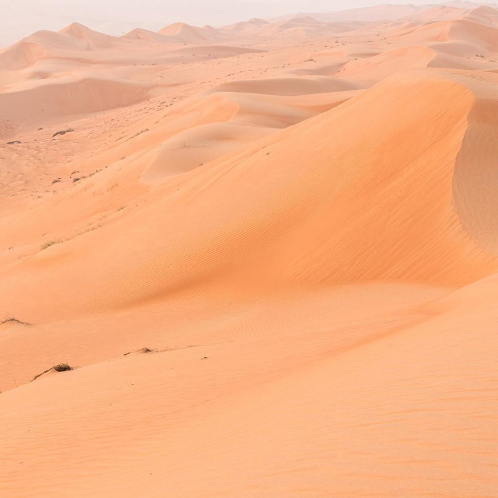 The Wahiba Sands. Picture from Breathe With us on their Instagram