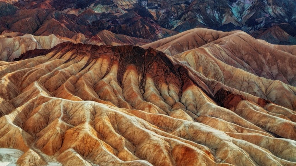 landscape photography of brown mountains in death valley