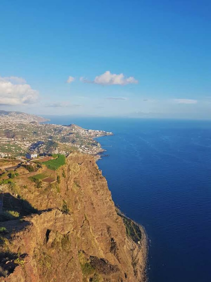 viewpoint of sharp cliff in madeira