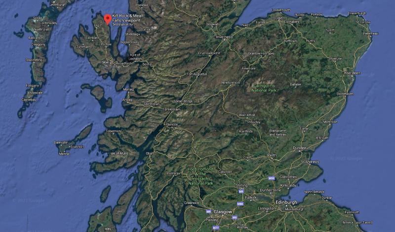 google maps satellite view of scotland