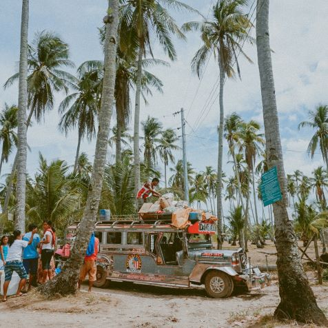 man on top of jeepy in cheap philippines photo