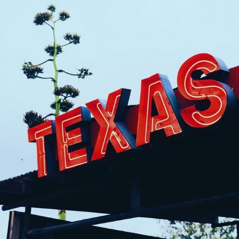 red cheap texas sign