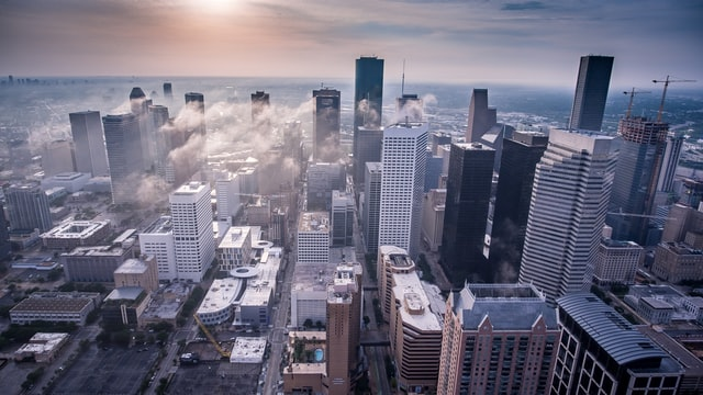 white high-rise buildings in cheap houston