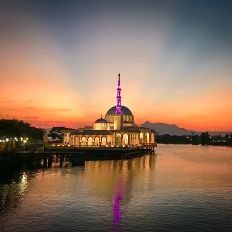 gold mosque in kuching worth visiting